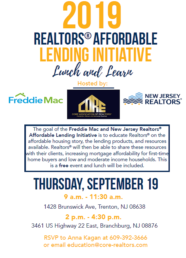 2019 REALTORS Affordable Lending Initiative Lunch & Learn